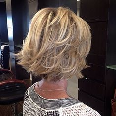 Flicked Blonde Bob Hairstyle                                                                                                                                                                                 More