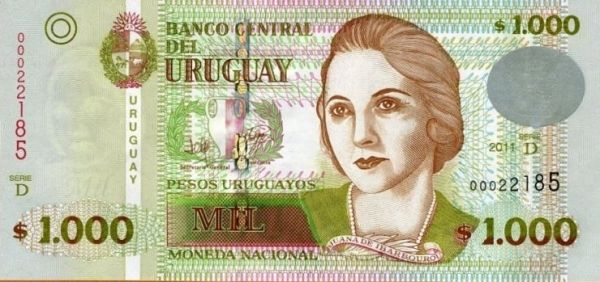 Mata Wang Uruguay (UYU) 1000 Pesos Uruguayos #uruguay #currency