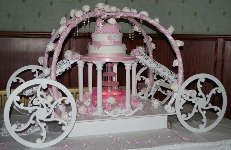 Stunning princess carriage cake stand