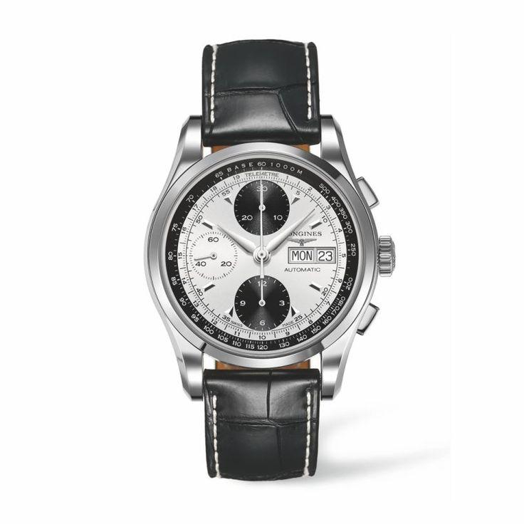 LONGINES ρολόγια ΤΣΑΛΔΑΡΗΣ - L2.747.4.92.4 LONGINES Heritage 1954 automatic chronograph. Ανδρικό ρολόι LONGINES αυτόματος χρονογράφος & μαύρο λουρί #heritage #longines #ρολόγια