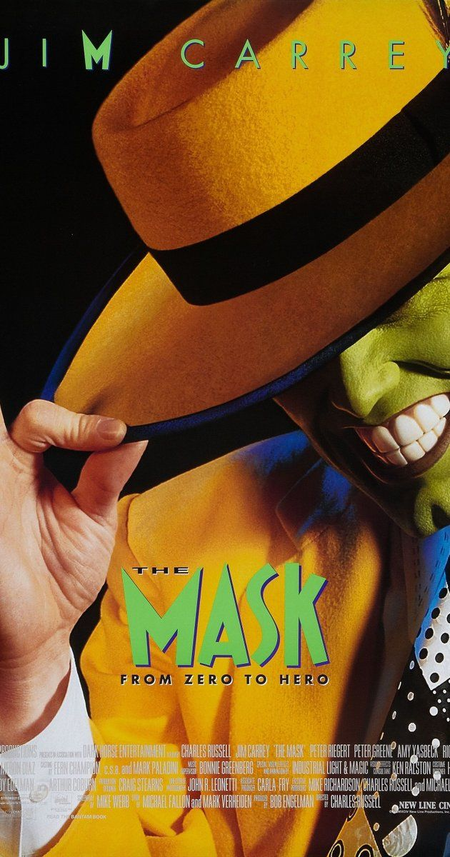 Directed by Chuck Russell.  With Jim Carrey, Cameron Diaz, Peter Riegert, Peter Greene. Bank clerk Stanley Ipkiss is transformed into a manic superhero when he wears a mysterious mask.