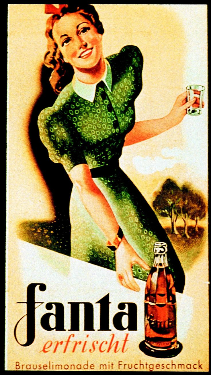 Early German advert for Fanta