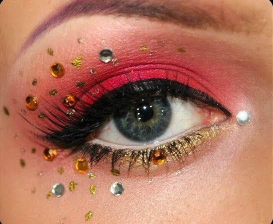 carnival make-up / Find us on: www.facebook.com/RZESYBLACKLASHES