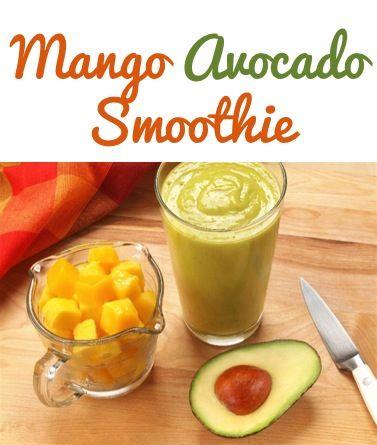 Mango Avocado Smoothie Recipe! ~ such a refreshing treat! #smoothies #recipes
