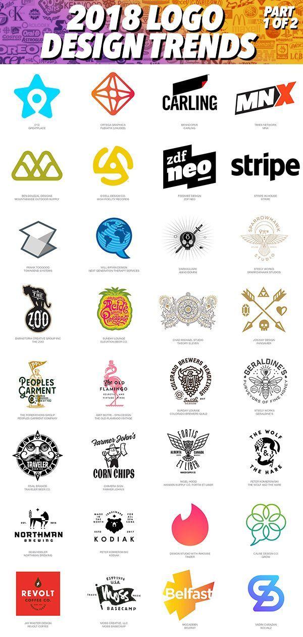 2018 Top Best Logo Designs + Trends & Inspirational