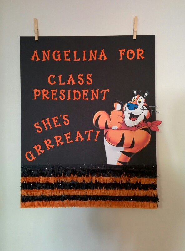 Class President Poster - tiger theme student council