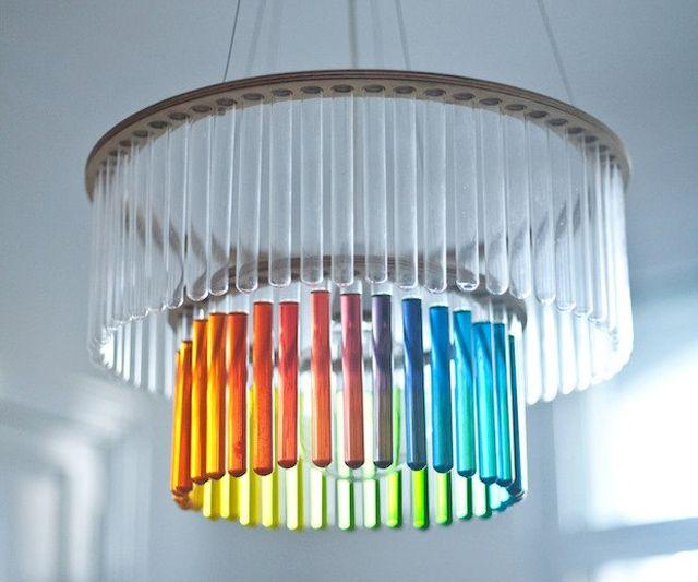 testtube chandelier | Test Tube Chandelier | DudeIWantThat.com