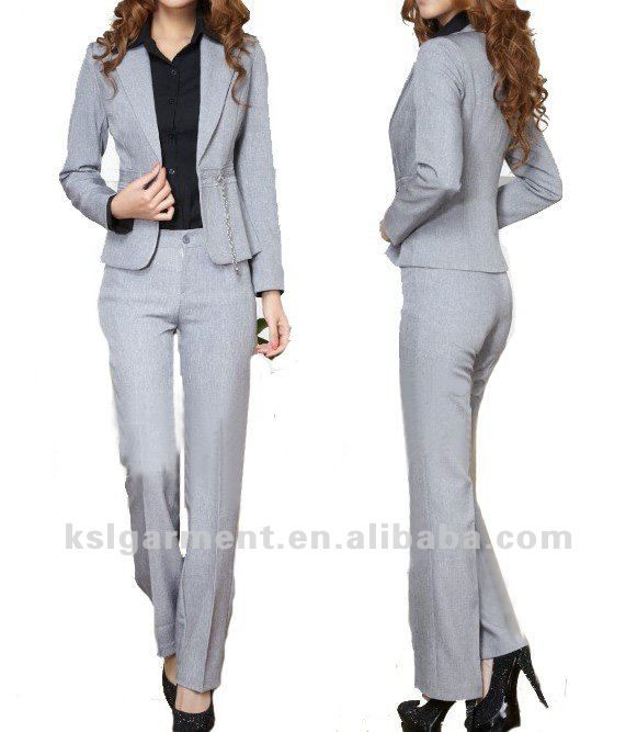 Popular Women Office OL Pants Zipper Waist Full Length Loose Casual Wide Leg