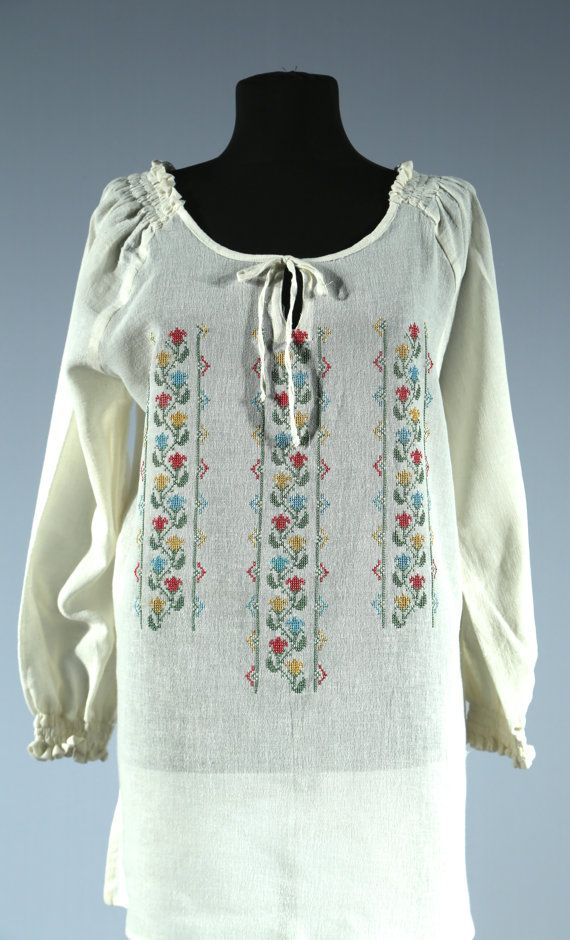 Cotton blouse, light beige, dress, country style, light fabric, cotton fabric, keeps you cool in summer