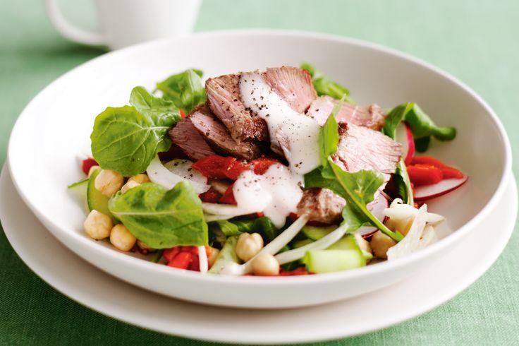 Lamb, Chickpea & Rocket Salad Recipe - Taste.com.au