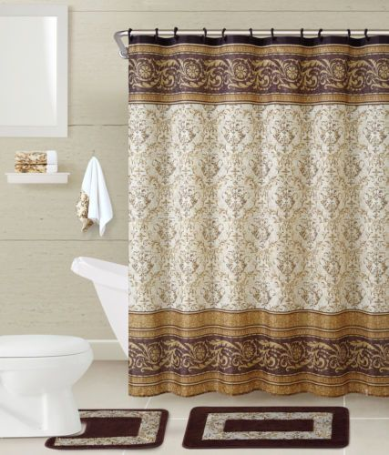 VCNY Roma 5 Piece Shower Curtain Set