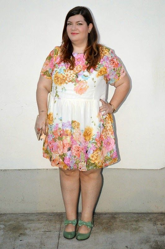More on http://www.pluskawaii.com/2014/08/outfit-plus-size-abito-floreale.html