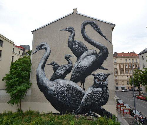 ROA Street Art Owl