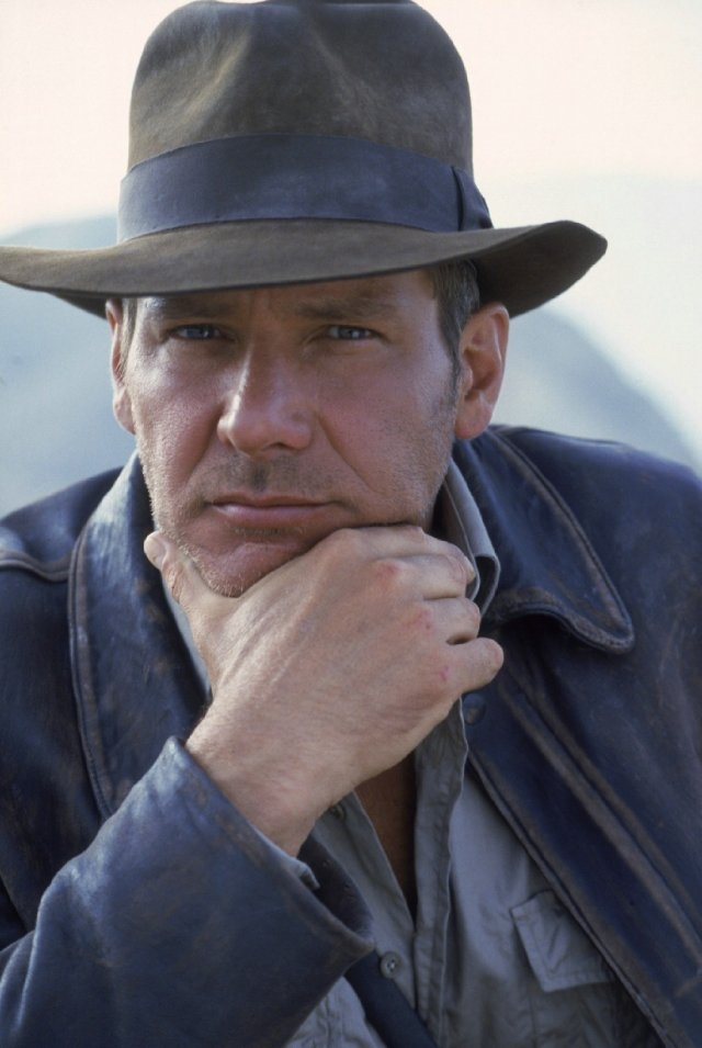 Harrison Ford was a carpenter who built a deck for George Lucas ... in Hollywood ... location, location, location ....This picture is a still taken from Indiana Jones and the Last Crusade.