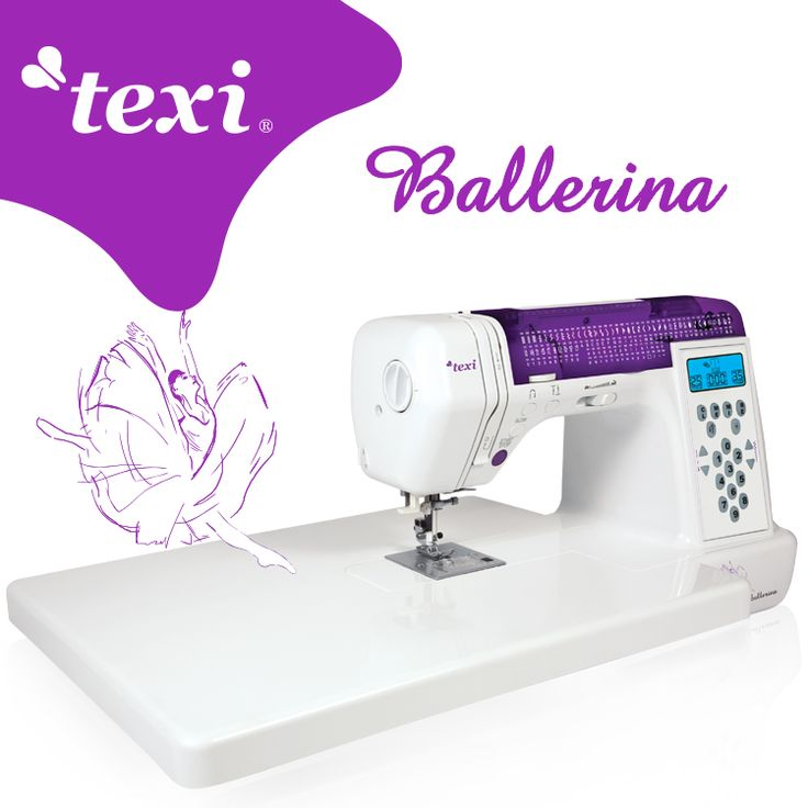 Texi Ballerina - Multifunctional, computerized sewing machine. Equipped with 200 stitch programs, useful buttons facilitating work, set of feet and extension table. Durable and practical - will satisfy the most demanding users. #texisewing #sewingmachine #yeswesew