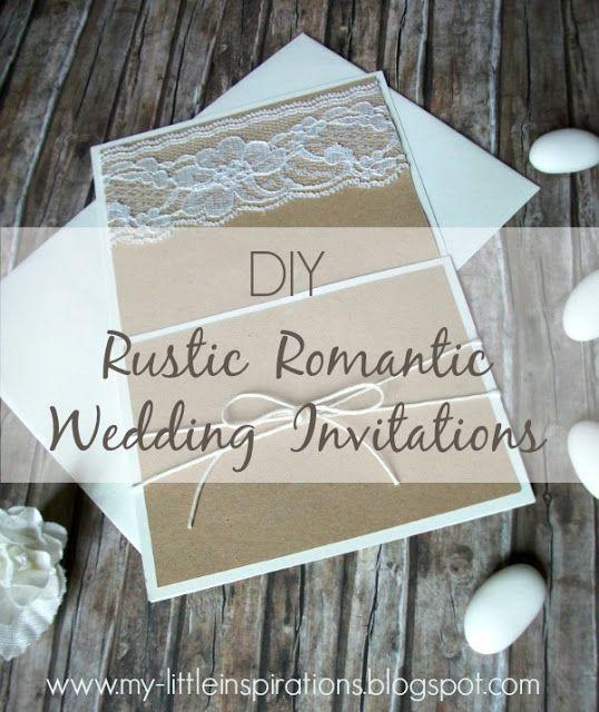 Tutorial Inviti e partecipazioni Matrimonio Rustico Romantico - My Little Inspirations #handmadecelebrations2017 #thecreativefactory