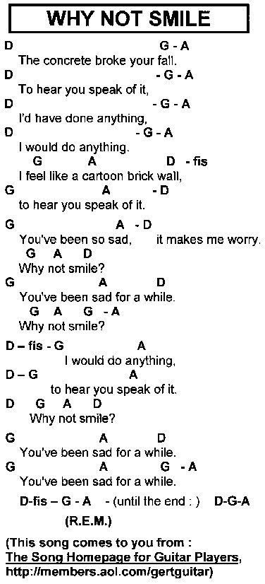 Why Not Smile REM lyrics - Google Search