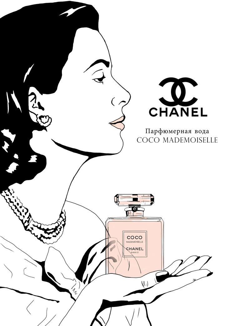 Рекламный плакат. Коко Шанель