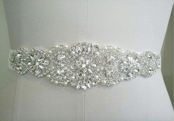 SALE Bridal Sash Belt Bridal Belt Sash Belt Wedding by SassyRhine