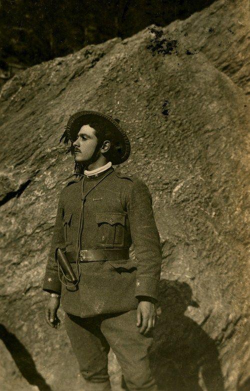 Bersagliere Attendente del Tenente Venditti Valerisce maggio 1916 RITRATTI Archivio Storico Dal Molin