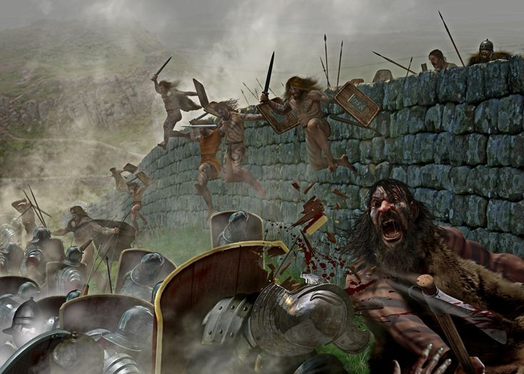 Picts crossing Hadrian's Wall