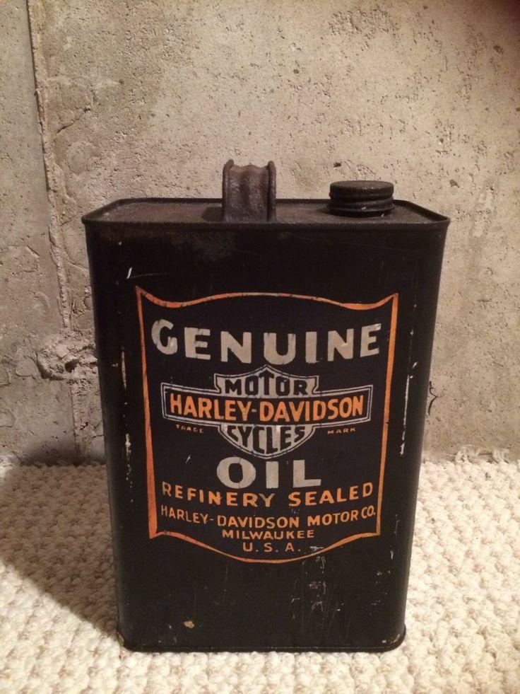 "Very Rare! Vintage  Harley Davidson 10"" Oil Can."