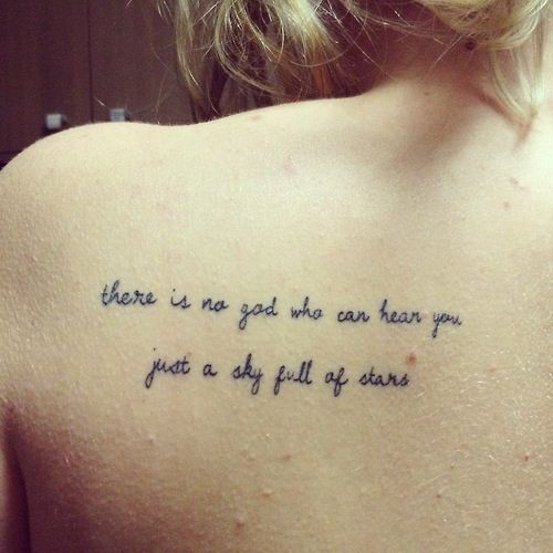 atheist quote tattoo - Google Search