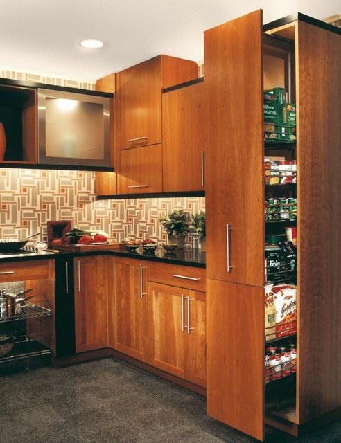 Door style munich material cherry door construction for Butternut kitchen cabinets