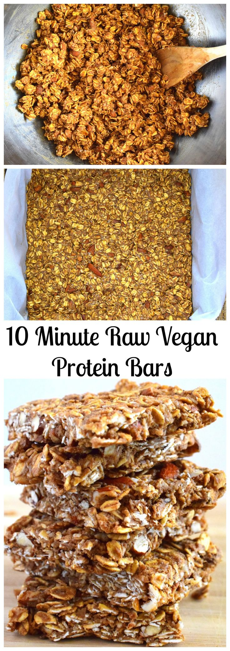 10 Minute Raw Vegan Protein Bars made with Sunwarrior Protein Powder, so good!