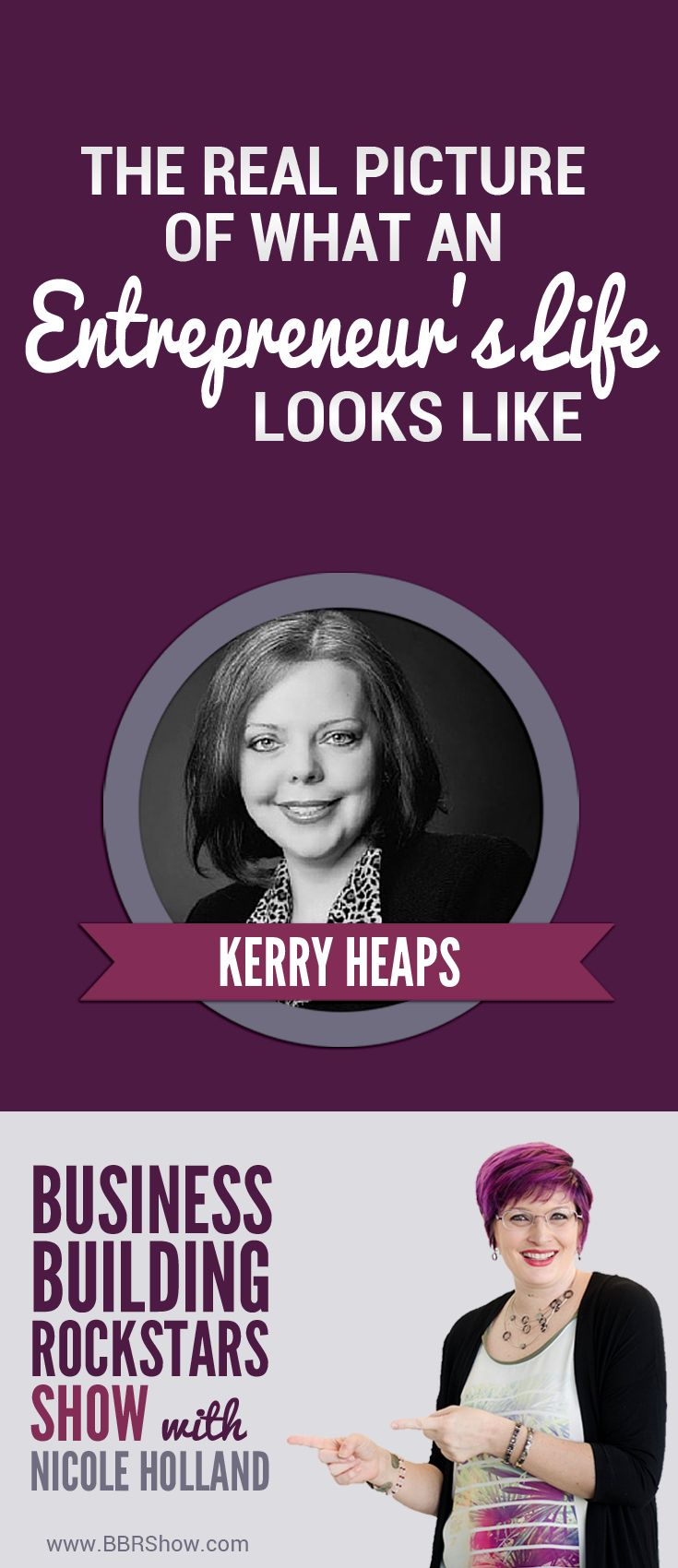 Kerry Heaps On The Real Picture Of What An Entrepreneur's Life Looks Like  Kerry Heaps is the Founder and President of Kerry's Network, Inc., a marketing organization that provides Business-to-Business Marketing services. She is also the host of Strictly Marketing Talk Radio and publisher of Strictly Marketing Magazine.   Learn more: http://bbrshow.com/podcast/054/