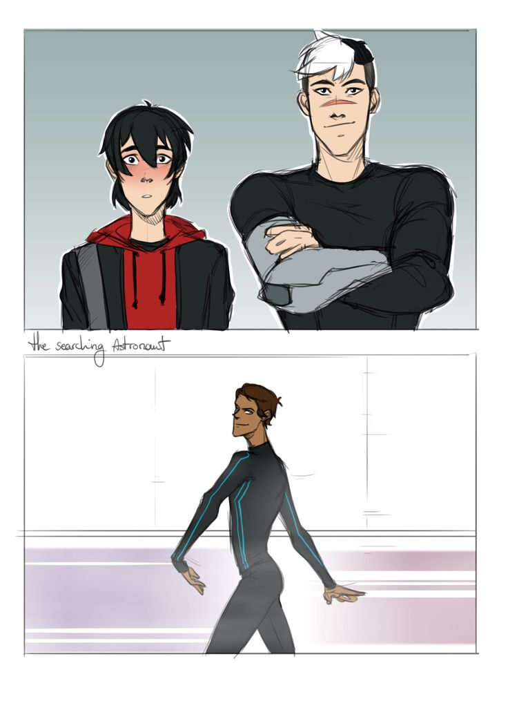fanart of the fanfic on thin ice :) - Voltron: Keith, Shiro, and Lance