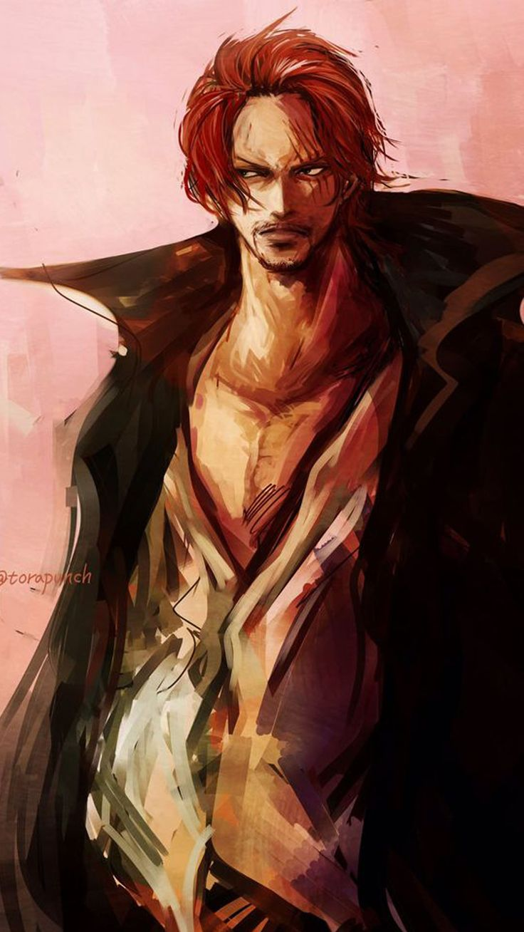 Shanks wallpaper 35 Rambut merah, Seni anime, Gambar anime
