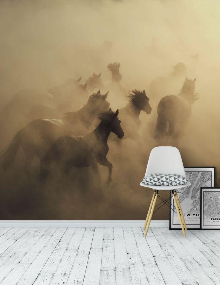 Running horses Tapet