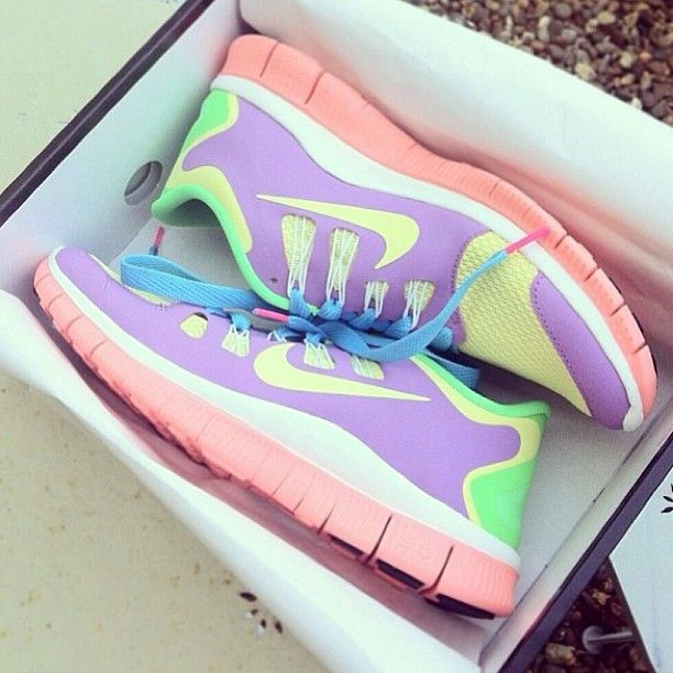 Pastel Nike Trainers. Pastel Sneakers. Pastel Shoes