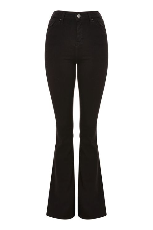 MOTO Black Flared Jamie Jeans