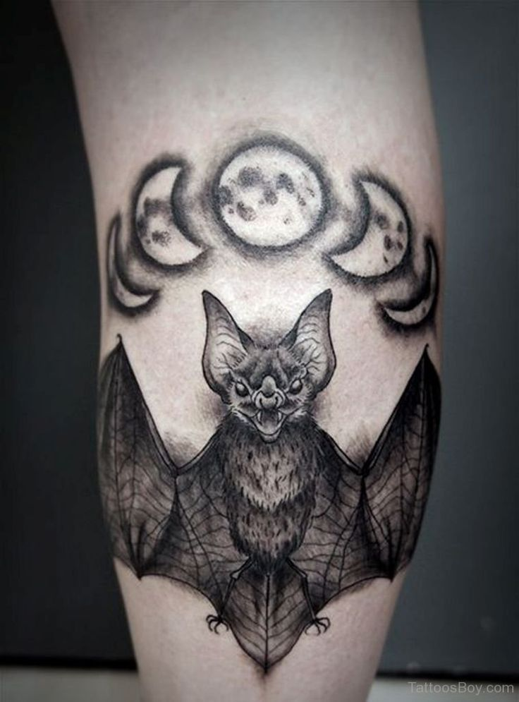 297 best bat tattoos images on pinterest bat tattoos for Bat moon tattoo
