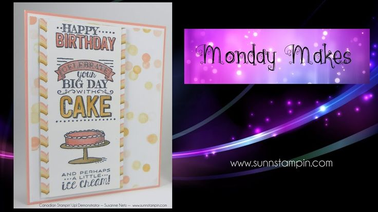 And a little ice cream too featuring Stampin' Up! Products