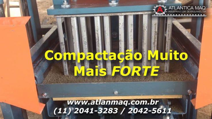 Maquina de Blocos e Pavimentos de Concreto Hidraulica - Atlantica Maq