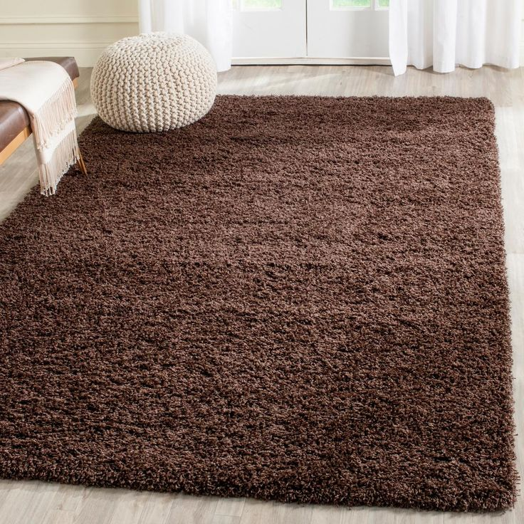 Laguna Shag Brown 4 ft. x 6 ft. Area Rug