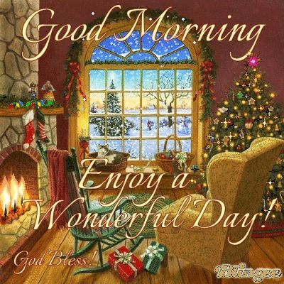 Good Morning Enjoy Your Wonderful Christmas Day holidays christmas merry…