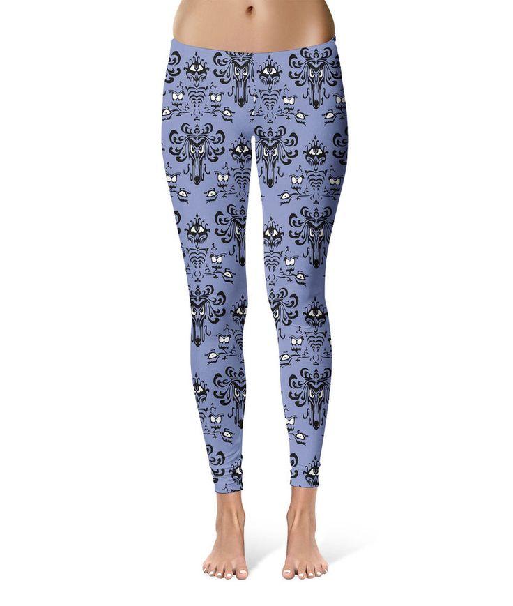 Haunted Mansion Wallpaper Leggings Damen Größen XS-3XL Gym Yoga | eBay
