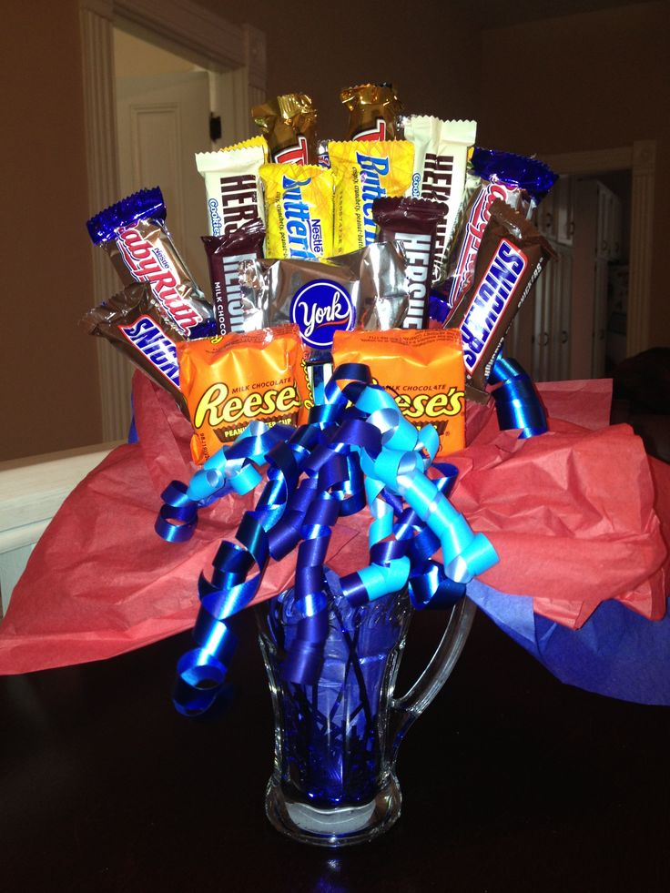 Candy Bouquet For The Birthday Boy Candy Bouquets