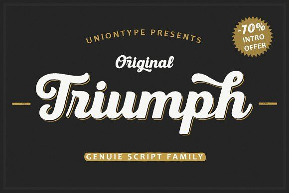 UT Triumph -70% Intro Offer by Uniontype on @creativemarket