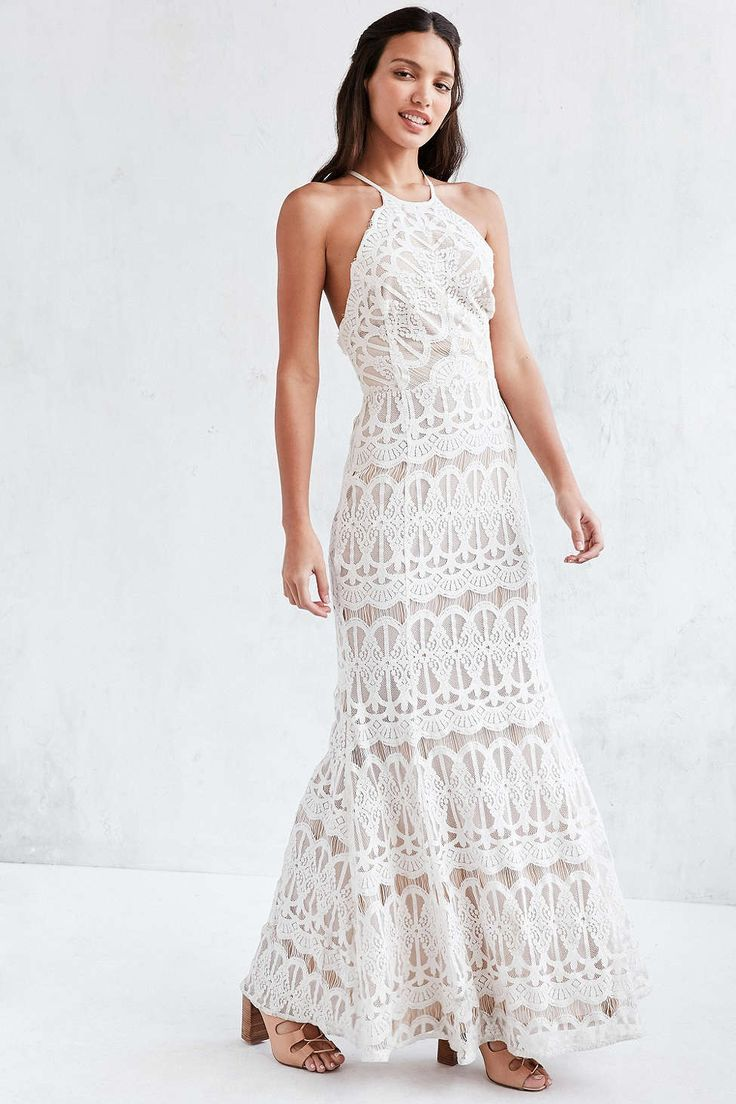 558 best unconventional wedding gowns images on pinterest glamorous lace halter maxi dress ombrellifo Image collections