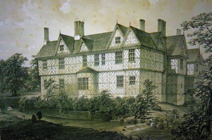 An early drawing of the main hall.