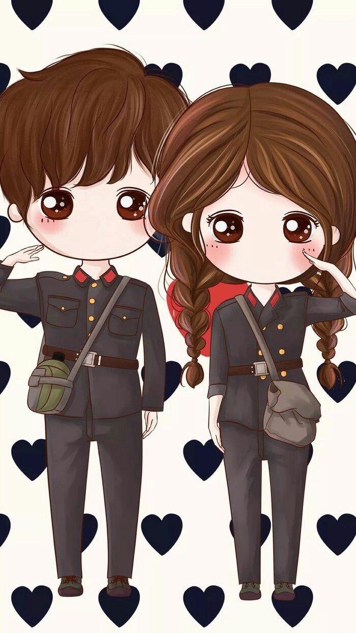 60 Cute LOVE couple phone wallpapers di 2020 Animasi