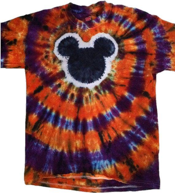 Kids Tie Dye Halloween Mouse Shirt by SwirlySensations on Etsy