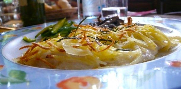 Filetto di rombo in crosta di patate