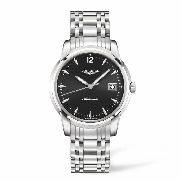 L27664526 Ανδρικό αυτόματο ρολόι LONGINES Saint-Imier Collection με μπρασελέ, μαύρο καντράν & ημερομηνία |  Ρολόγια ΤΣΑΛΔΑΡΗΣ Χαλάνδρι #SaintImier #longines #ρολόι