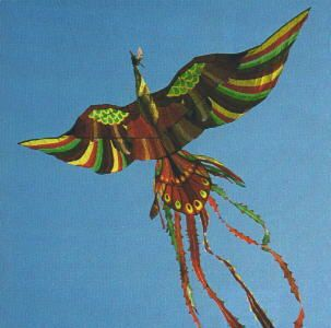 "A huge ""Phoenix"" bird kite flown by the Korean Kite Association"